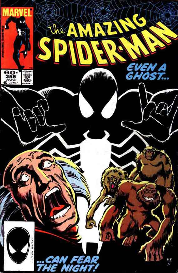 Amazing Spiderman #255, couverture