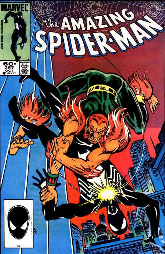Amazing Spiderman #257, couverture