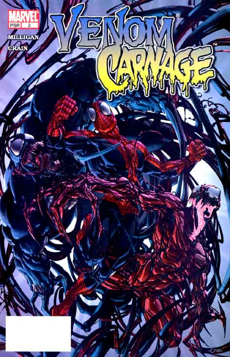 Comics Marvel, Venom Vs Carnage #2, couverture