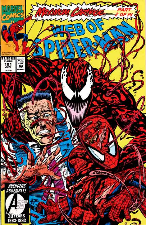Comics Marvel, web of Spider-Man